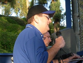 Announcing at Heroes Park, April 2010