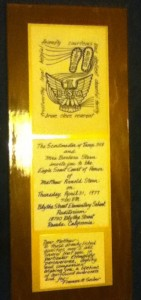 Invitation to my Court of Honor, 1977