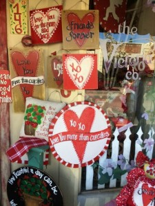 Storefront with hearts