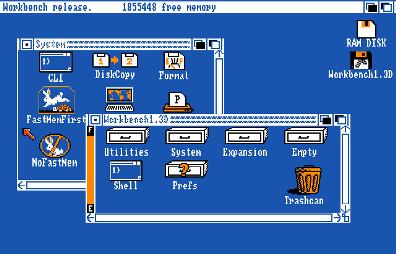 Amiga Workbench 1.3 (circa 1987) from Wikipedia