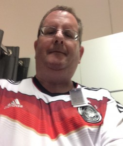 Selfie in a German soccer uniform
