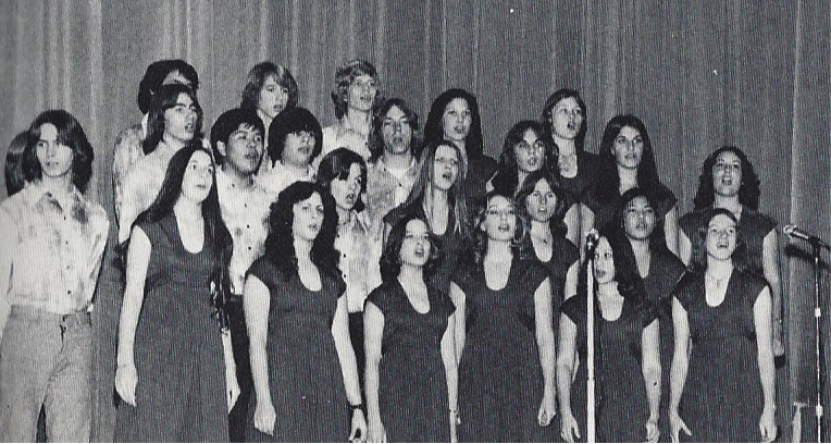 "Reseda High School Vocal Ensemble performance of ""Monotone Angel"" in December 1976."