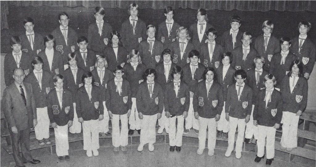 Sequoia Junior High School Boys' Senior Glee 1974-75