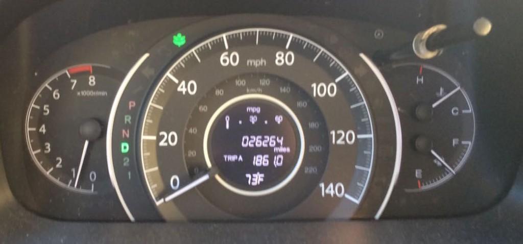 Dashboard of a 2013 Honda CR-V