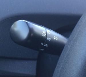 Light controls on a Toyota Prius