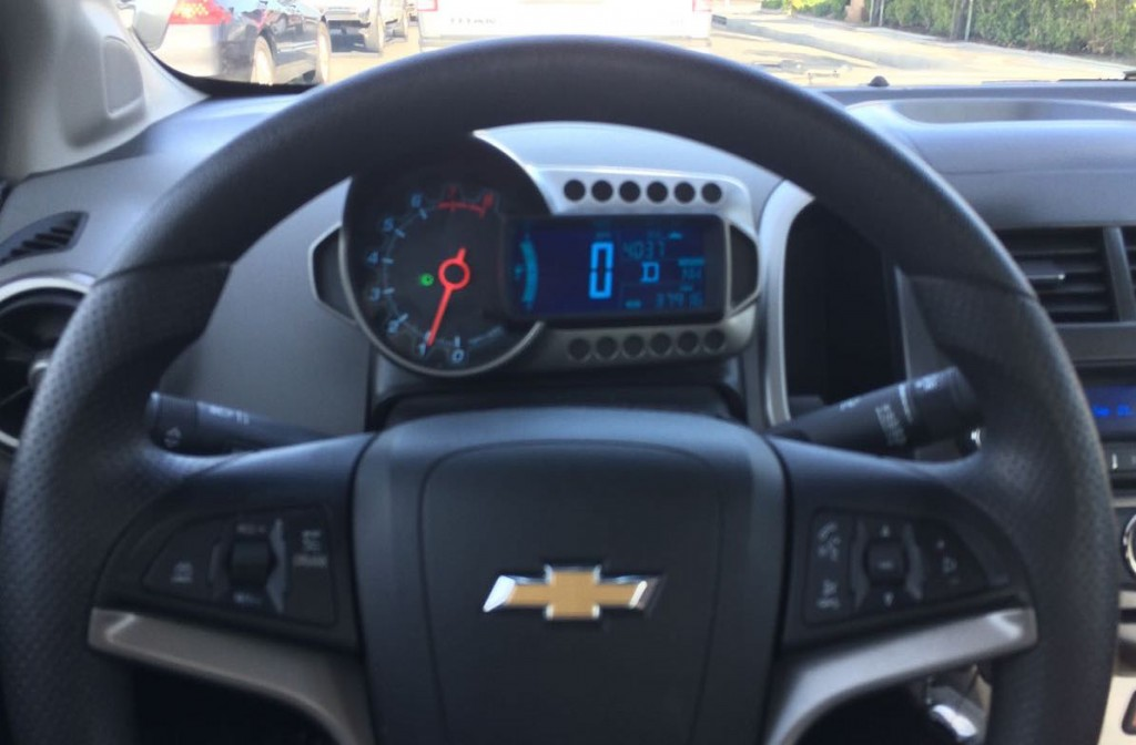 2014 Chevrolet Sonic dashboard