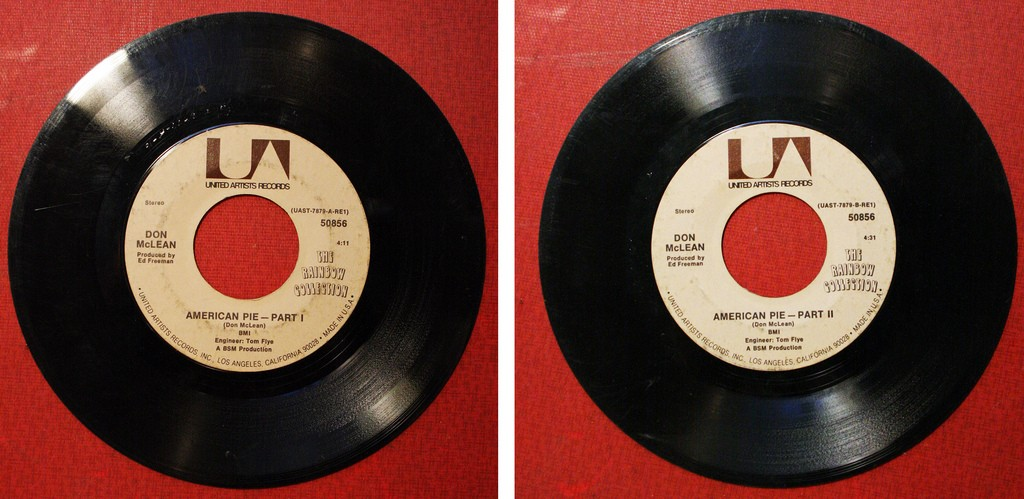 Original American Pie 45 single (image from Flickr)