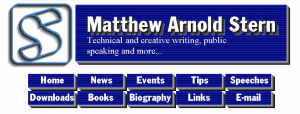 My website header from 1999
