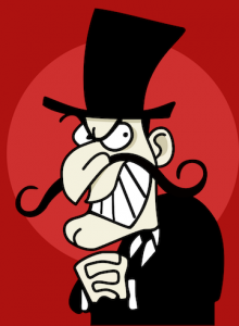 Caricature of a villain (image from Wikipedia)