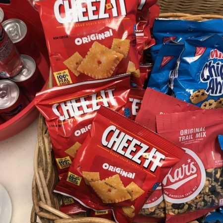 Cheez-It crackers at a blood drive