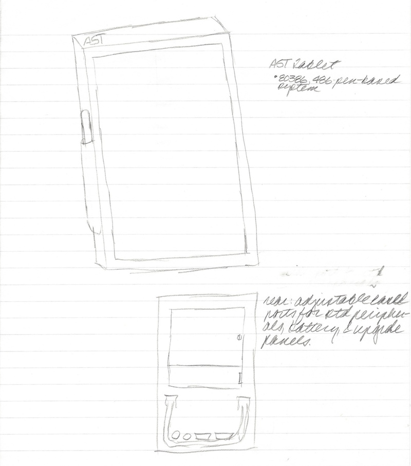 AST Tablet Design from 1991