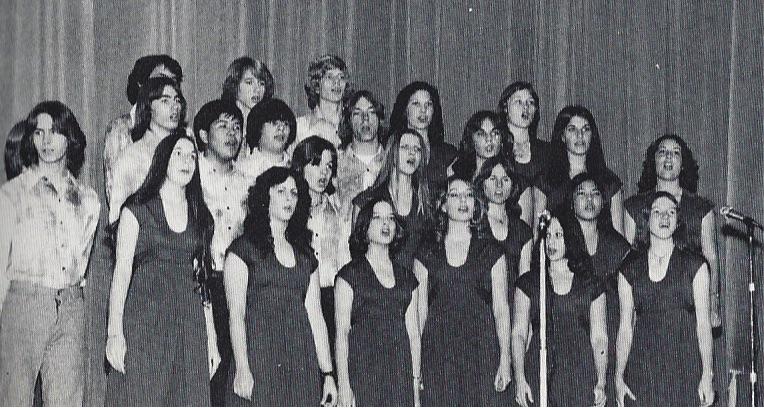 "Reseda High School Vocal Ensemble performance of ""Monotone Angel"" in December 1976."
