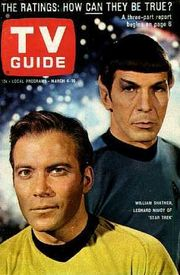 TV Guide cover from 1967 shows Leonard Nimoy and William Shatner from Star Trek, The Original Series