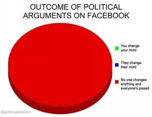 Arguing about politics on social media accomplishes nothing