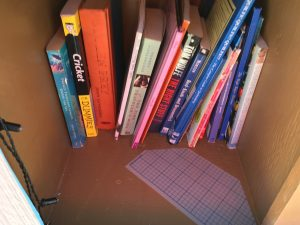 Mastering Table Topics and other books in the Little Free Library.