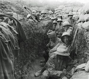 Trench warfare in World War I from Wikimedia Commons