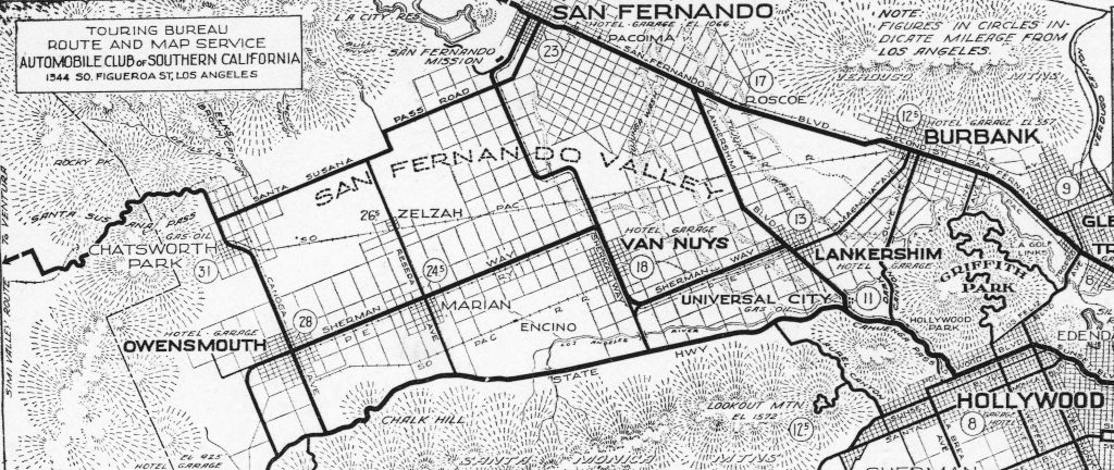 San Fernando Valley in 1917 (Image from Wikimedia Commons)