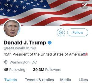 President Trump's Twitter Heading