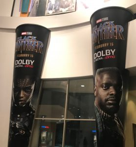 Theater lobby for Marvel's Black Panther