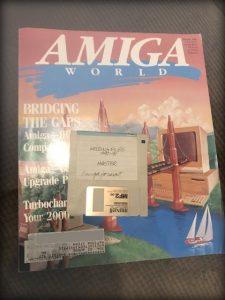 Amiga World Magazine and floppy disk
