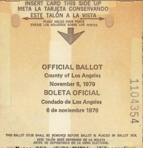 The ballot from my first election