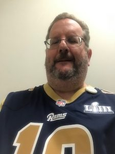 Me in a Los Angeles Rams jersey