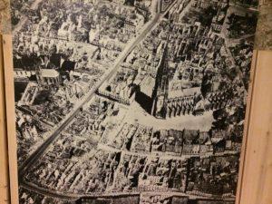 Bomb damage to Freiburg, Germany 1944