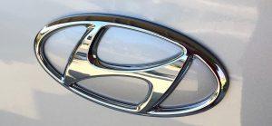 Hyundai car badge
