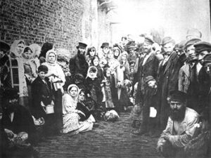 Jewish refugees fleeing Russian pogroms in the 1880s