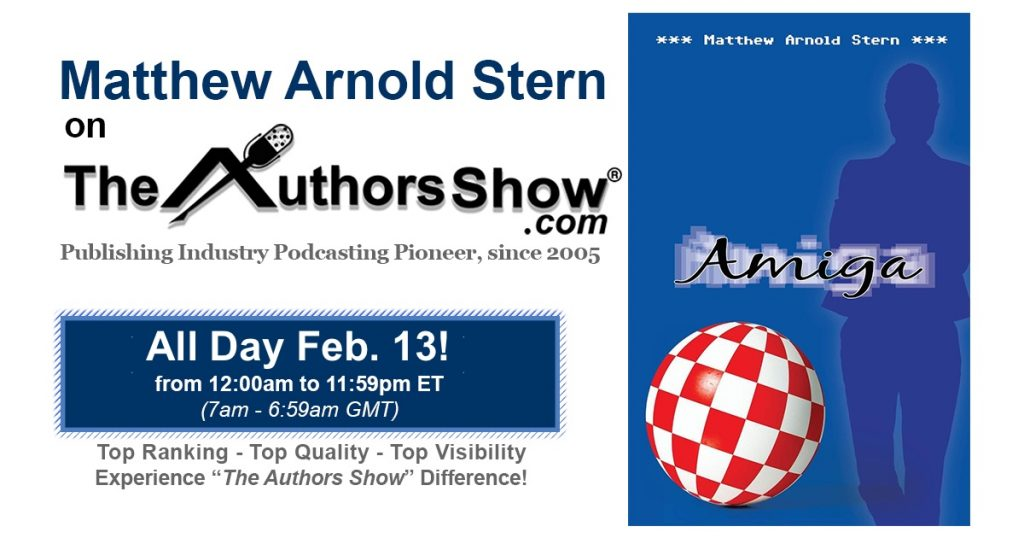 Listen to me on The Author Show on February 13.