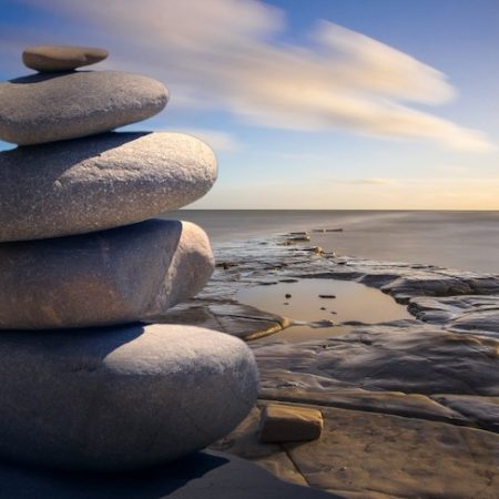 It takes patience to stack rocks like this.